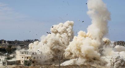 Egipto contra la frontera de Gaza