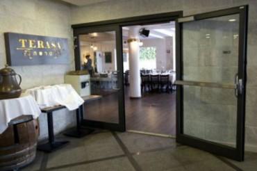 El restaurante Terasa ubicado en el centro de Menachem Begin en Jerusalén