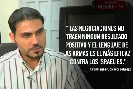 Karam Hussein creador del video juego mata israelies