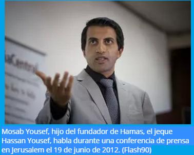 Mosab Yousef hijo del jeque Hassan Yousef fundador de Hamas