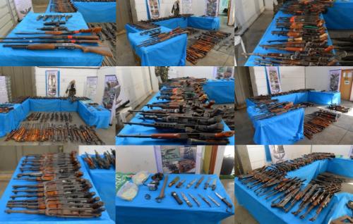 Armas incautadas al Hamas