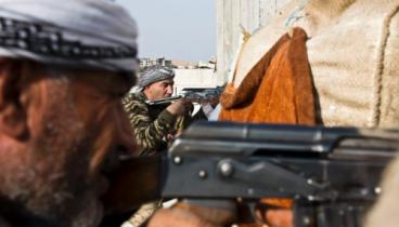 Lucha de kurdos contra ISIS en Kobani 1 de Diciembre 14