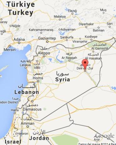 Mapa siria Deir ez Zur-Deir Ezzor
