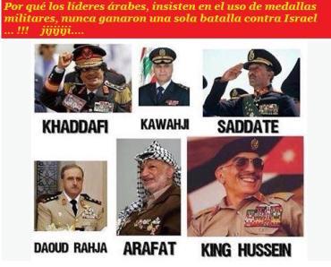 Medallas de los lideres arabes