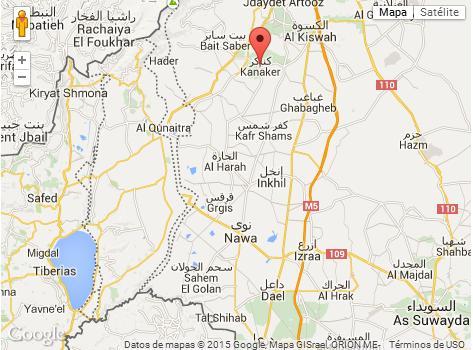 Kanaker cera altos del Golan Siria