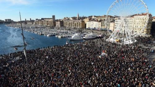 Marcha en Marsella