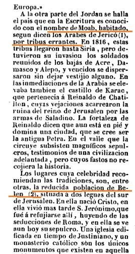 moab, nomadas y belen