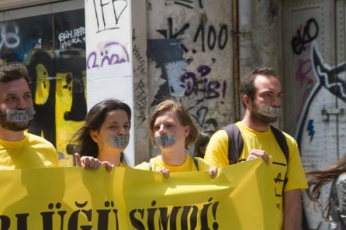 Protesta Turca libertad de prensa y expresión