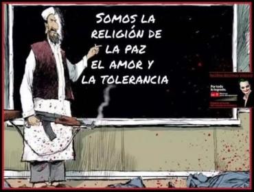 Viñeta de la religión de la paz el amor y la tolerancia