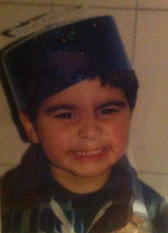Yohan cuando era un niño