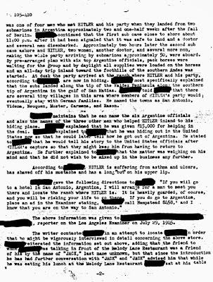 FBI - Escape de Hitler a Argentina - 2