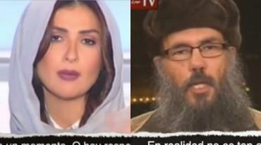CONDUCTORA PROGRAMA TV LIBANES Y CLERIGO MUSLIM
