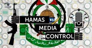 HAMAS MEDIA CONTROL CON ESCUDO DE HAMAS