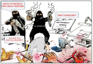 Al Shabaab matando a todo D.os Viñeta