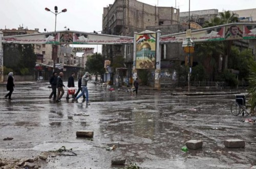 El campo de refugiados palestino de Yarmuk Siria