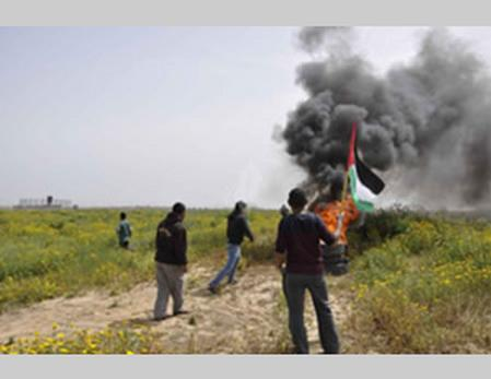 Quemando palestino