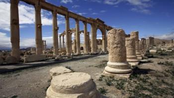Vista parcial de la antigua ciudad oasis de Palmira en Siria 14 de marzo de 2014 (AFP / Joseph Eid, Archivo)