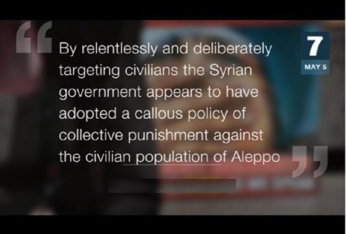 Alepo crimenes de Assad