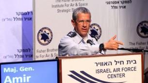 Israel comandante de la Fuerza Aérea Amir Eshel (Crédito de la foto: Sivan Farraj)