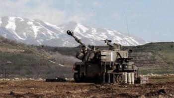 La artillería israelí en la frontera con el Líbano 28 de enero de 2015 (Crédito de la foto: El portavoz de las FDI)