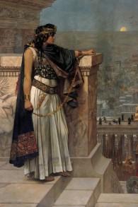Última mirada de la reina Zenobia Al Palmyra, por Herbert Gustave Schmalz. (Original en exhibición, Galería de Arte de Australia del Sur, Adelaida.)