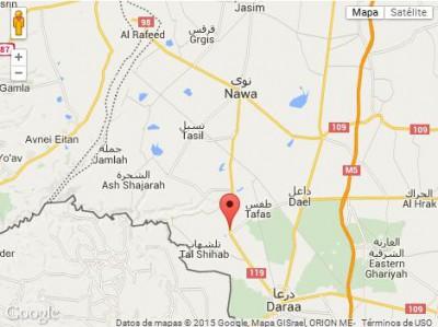 Mapa Dara en Siria