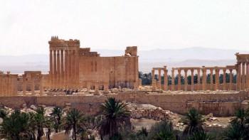 La antigua ciudad romana de Palmira, al noreste de Damasco, Siria, lanzado por la agencia oficial de noticias siria SANA, 17 de mayo de 2015. (SANA vía AP)