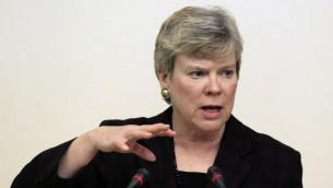 Rose Gottemoeller, Subsecretaria interina de Control de Armas y Seguridad Internacional. (AP Photo / Sergey Ponomarev, Archivo)