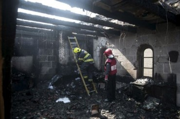 Iglesia quemada en Galilea