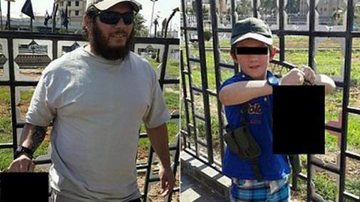 isis Khaled Sharrouf con hijo cabeza en la mano