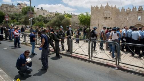 Policia de fronteras apuñalado Jerusalem