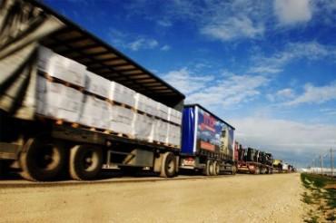 Camiones israelíes entrando a Gaza