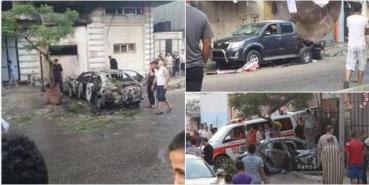 Coches incendias por ISIS en Gaza
