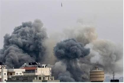 Explosiones en Gaza