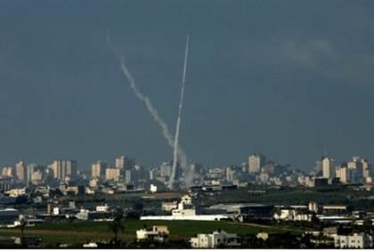 Lanzamiento de misiles sobre Ashkelon-archivo-