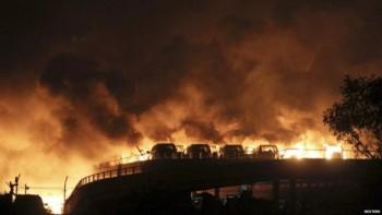 En un momento se vio una gran bola de fuego alumbrando la ciudad.