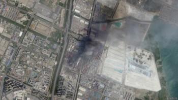 Imagen satelital de la explosión recogida por Skybox Imaging y cedida para su difusión por Google.