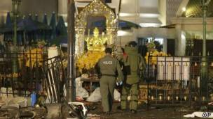 La explosión sucedió frente al santuario Erawan.