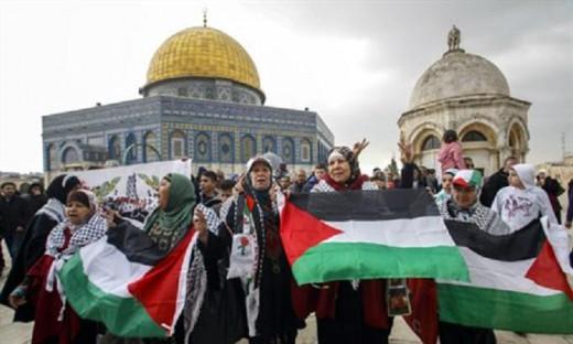 Arabes tomando el Monte del Templo