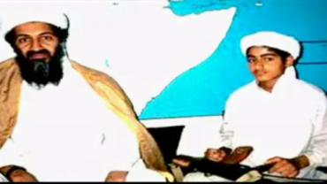 Bin Laden y su hijo Hamza