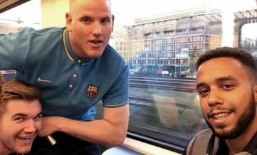 Heroes del tren a Paris deteniendo al terrorista