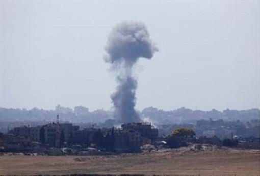 IDF bombardeo gaza 7-8-15