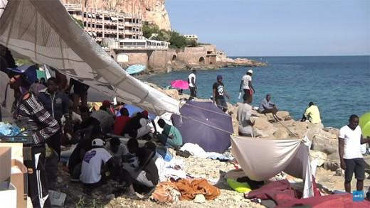 Inmigrantes ilegales africanos en europa