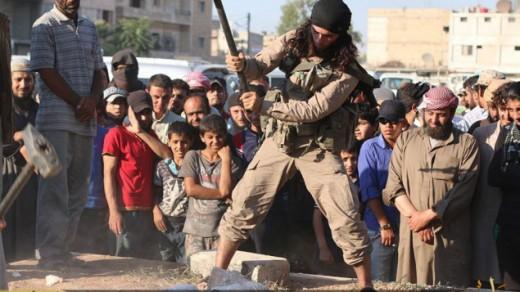 ISIS destruyendo antioguedades