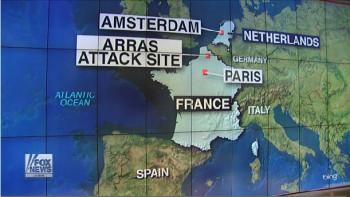 Mapa atentado de tren en francia