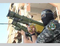 Misil antiaereo de Hamas de hombro