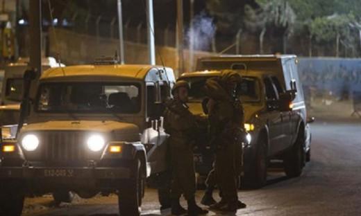 Soldados en un intento de atropello árabe