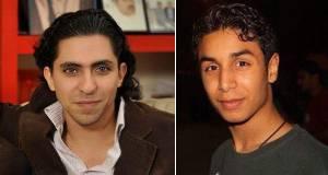 Disidentes saudíes encarcelados Raif Badawi (izquierda) y Ali Mohammed al-Nimr. (Gatestone)