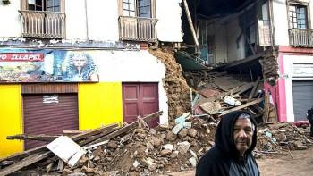 Casas destruidas en Illapel. El epicentro del sismo se ubicó a 46 km de esta localidad, más de 200 km al norte de Santiago.