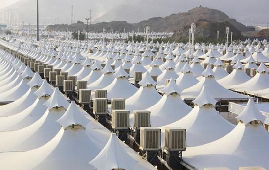 Arabia Saudí tiendas del Hajj